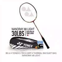 Promo! Raket Badminton Yonex Nanoray 68 Arc Saber 69 Light Bonus Tas S