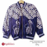 Jaket Bomber Batik pria/wanita Kualitas Premium Navy