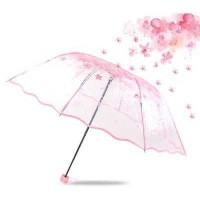 Payung Lipat Jepang / Payung Transparan Cherry Blossom
