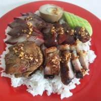 Nasi Campur Singkawang / Babi Merah / Babi Panggang / Sosis Babi