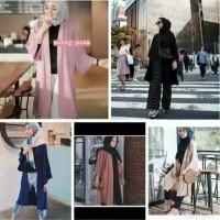 Baju Atasan Wanita Rena Long Cardi/Cardigan Outer/Baju Muslimah Modern