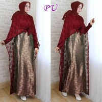 Baju Busana Muslim Wanita Gamis Syari Pesta Kebaya Khairunisa Terbaru