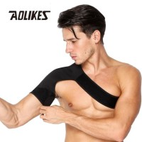 Aolikes 1693 Shoulder Injury Support Brace Protector Fitness BLACK