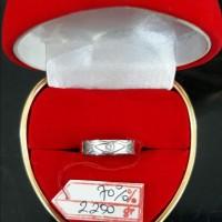 CC233F336F CINCIN EMAS PUTIH PERMATA MODEL SIMPLE ELEGAN WHITE GOLD