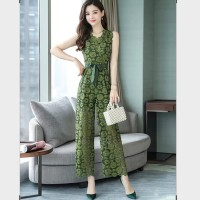 jumpsuit /dress wanita import / brokat elegan