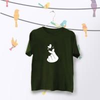 Tumblr Tee / T-Shirt / Kaos Wanita Lengan Pendek Sarang Warna Army
