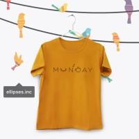 Tumblr Tee / T-Shirt / Kaos Wanita Lengan Pendek Munday Warna Mustard