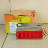 Lampu Bak/Aksesoris Mobil Truck/Alat Berat LED DNY-91/DNY91 Merah/Red