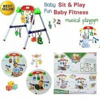 (1 kg) MAINAN MUSICAL MUSIK BAYI BALITA PLAYGYM/BABY FITNESS PLAY GYM