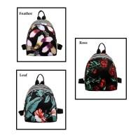 BP21 Korea Flower Floral Backpack/ Tas Ransel Mini