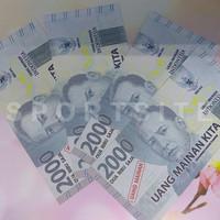 Uang Kertas 2000 Rupiah Cetakan Baru Mainan Anak Role Play Mirip Asli