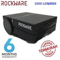 ROCKWARE Mini LED Projector RW-50 - 1000 Lumens with VGA and HDMI Port