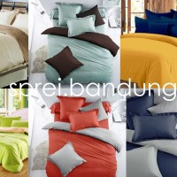 Two Tone QUEEN SIZE BEDCOVER SET Embos Katun Jepang 160x200