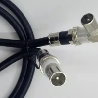 Kabel Loop Jumper TV male ke TV male Right Angle panjang 1 meter