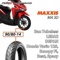 Maxxis MA 3D 90/80-14 Ban Depan Lebar Honda Beat Vario Spacy Scoopy