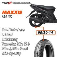 Maxxis MA 3D 90/80-14 Ban Belakang Lebar Yamaha Mio J Sporty Soul M3