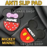 Anti Slip Pad Mat Aksesoris Dashboard Mobil Kartun Mickey Minnie Mouse