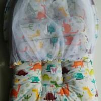 Kasur Bayi Bess / Kasur Kelambu Lipat / New Born / Motif Dino