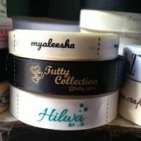 Label pita satin untuk merk baju atau hijab