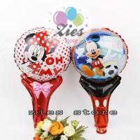 Balon foil pentungan / balon tongkat mickey minie mouse