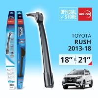 Wiper Toyota Rush (2 pcs) Thn. 2013-2018 uk. 18 & 21 HELIOS