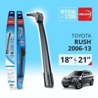 Wiper Toyota Rush (2 pcs) Thn. 2006-2013 uk. 18 & 21 HELIOS