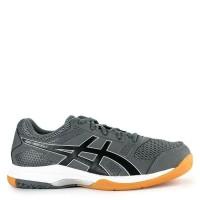Sepatu Tenis Badminton Asics Gel Rocket 8 Silver Orange Original Murah