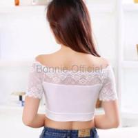 Ahh Bra Baju Yoga Baju Senam JdF Shop Sabrina Crop Crop Top Bra Lace
