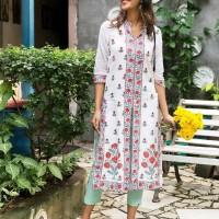 Dress Laris Kajal cotton kurta atasan baju india