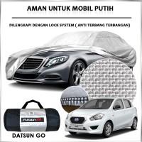 Cover Mobil / Sarung Mobil DATSUN GO Merk FUSION R / Cover Mobil Putih