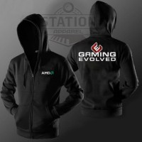 Jaket Hoodie Zipper AMD Gaming Evolved - Station Apparel