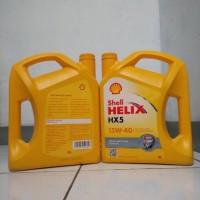 oli shell helix hx5 sae 15w-40 galon 4 liter