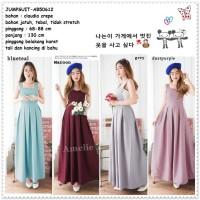 Overall Jumpsuit Long Dress Maxi Jumper Rok Korea Import Red Purple