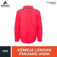 Eiger Kids Voyagiro Long Sleeved Shirt - Red
