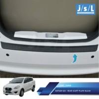 Sillplate belakang mobil datsun go / rear scuff plate black go
