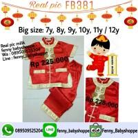 cheongsham anak FB381 baju imlek(size besar)