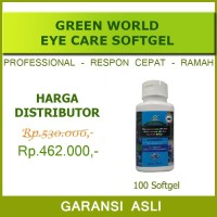 Eye Care Softgel Green World/Obat Mata Minus Plus/Rabun/Katarak