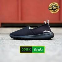Sepatu Adidas ORIGINAL Cloudfoam Slip on Full Black White