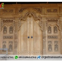 pintu rumah gebyok kayu jati ukuran 400 cm