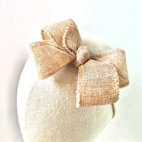 Natural Rustic Bow/pita anak/pita bayi/ribbonandco/headband
