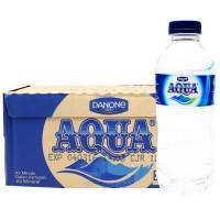 AQUA Air Mineral 330ml 1 Karton | 24 Botol x 600 ml | Kemasan Mini