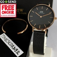 Daniel Wellington petite ashfield rosegold black 32mm & cuff original