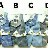 Baju Setelan Tuxedo Pesta Anak Bayi Laki2 Jas Rompi Dasi Wortel