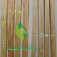 Kayu kaso jati belanda 110x2.5x2cm Balok kayu reng kecil