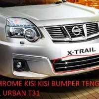Xtrail URBAN T31 List Chrome Kisi-Kisi Bumper Depan 100% ORI NISSAN
