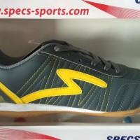 Special Sepatu Futsal Specs Horus In Dark Charcoal Yellow 2016 New