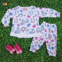 Piyama Abila Baby 3-12 bulan / Setelan Bayi Perempuan Baju Tidur Lucu