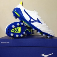 Sepatu Bola Mizuno Morelia Neo II MD White Wave Blue