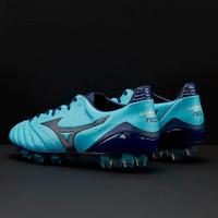 Sepatu Bola Mizuno Monarcida Neo MD Original biru muda