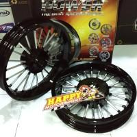 Velg Racing merk POWER ANDONG motor Honda Vario 125/150 Black/Chrome